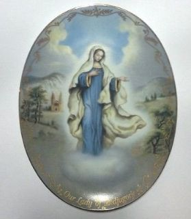 Bradford Exchange collectors plate - Our Lady of Medjugorje