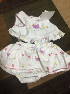 Chicken and duck outfit size 6/9 months