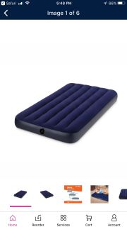 TWO Twin Air Mattresses & Battery Operated Air Pump