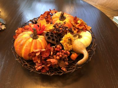 Fall table assortment in basket 14 round - guc - cppu