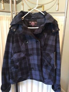 CLEARANCE ***BRAND NEW***Hooded Double Breasted Coat***