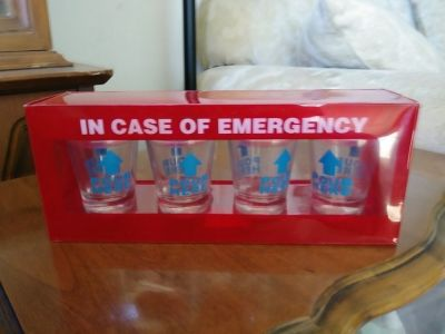In Case of Emergency SHOTGLASS Set