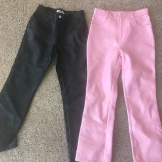 Girls Leather Pants Size 12