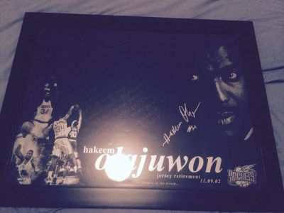 $500, Hakeem Olajuwom Signed and Framed Picture
