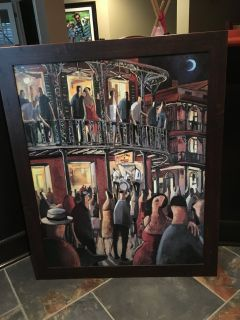 Jazz club Framed art picture