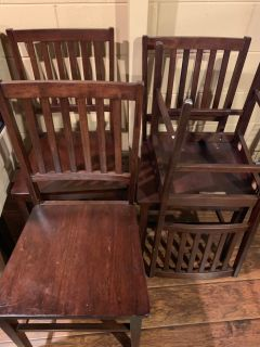Set of 4 kitchen dining chairs