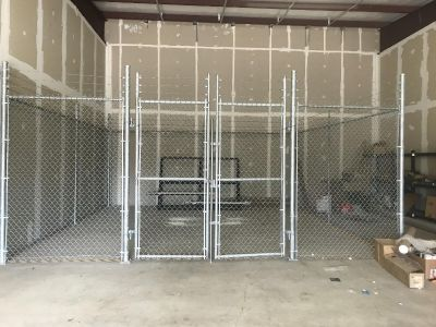 20 X 20 security cage with barbwire.