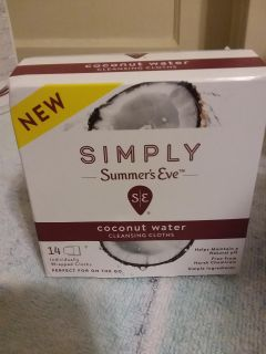 Simply Summer's Eve coconut water cleansing cloths