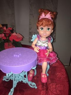 Fancy Nancy doll with chair and table
