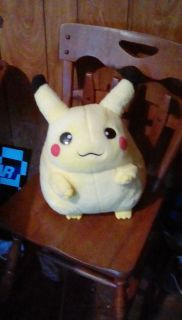Large Pikachu Pokemon plush missing nose