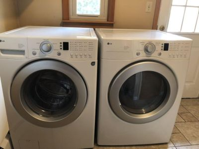 LG super capacity washer and dryer