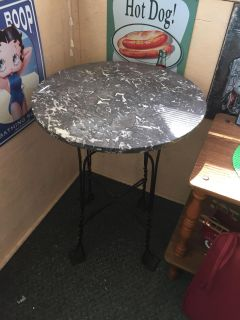 Marble topped table/plant stand