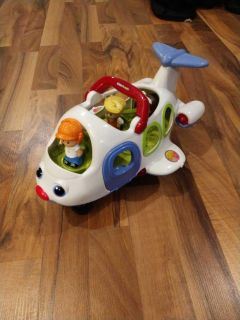 Little people airplane. Plays music. 1 person missing.