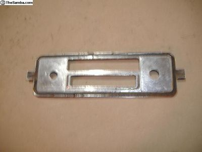 VW 1967 radio faceplate chrome