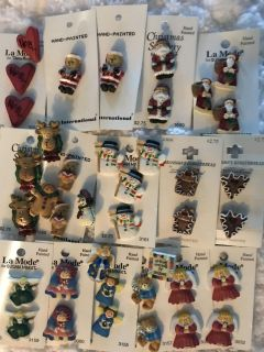 Collection of Christmas/Holiday Buttons