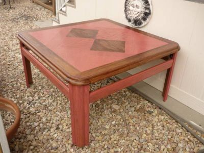 WOOD TABLE-LIVING ROOM OR PATIO