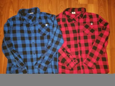 Youth size Lg DC plaid both new condition