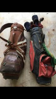 Free old wooden golf clubs and bags