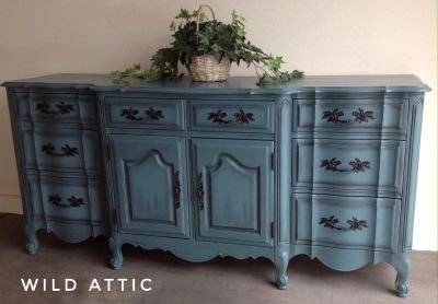 High End Hand Painted French Provincial Buffet/ Dresser