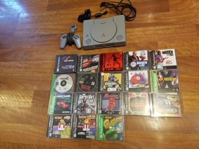 PS1 and 18 games