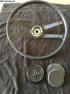 1967 Porsche steering wheel & horn button swb