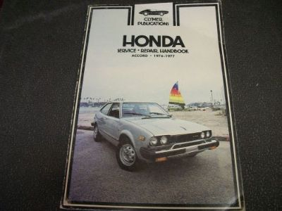 Find CLYMER SERVICE REPAIR MANUAL A228 HONDA 1976-1977 ACCORD motorcycle in Golden Valley, Arizona, United States, for US $15.00