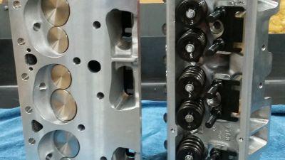 SBC Edelbrock Victor jr cylinder heads prt#77619
