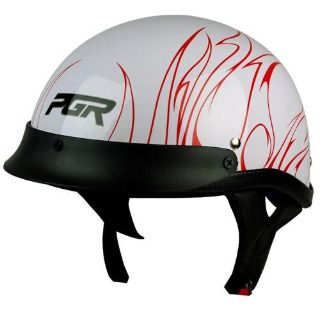 Sell L XL XXL ~ PGR B31 CONVICT WHITE RED Motorcycle DOT Half Helmet Harley Chopper motorcycle in La Verne, California, US, for US $0.99