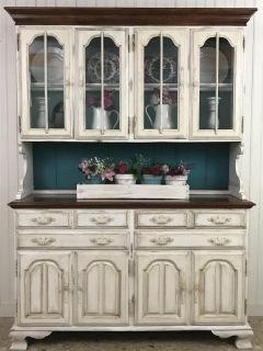 Refinished Vintage Hutch and cabinet
