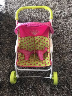 Great double stroller as toddler toy