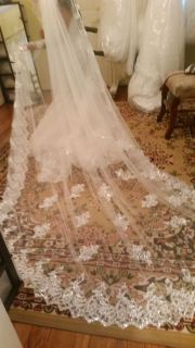Cathedral Wedding Veil Lace/Sequins 9.84' 9812