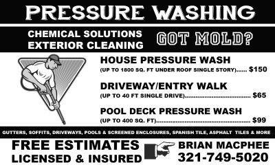 Sebastian pressure washing services and detailing