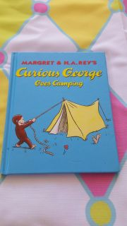 Curious george goes camping 8x8 book brand new
