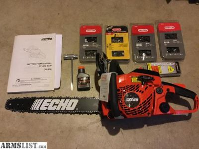 For Sale/Trade: New Echo CS400 chainsaw plus 9 extra chains.
