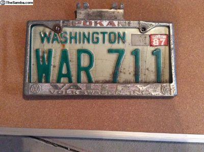 Spokane license plate holder