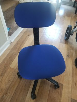 EUC blue desk chair