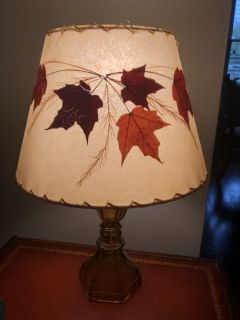 Leaf Lamp with amber glass