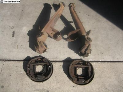 Thing rear control arms with backing plates