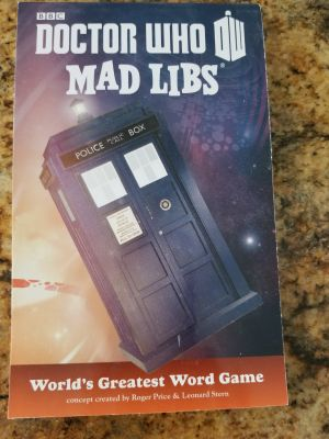 Dr.Who mad libs book.