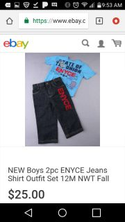 Boys size 3T Enyce jeans and and top