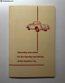 Repros of the Porsche 356 Roadster Top Manuals