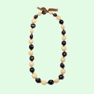 Tri Color Kukui Nut Lei