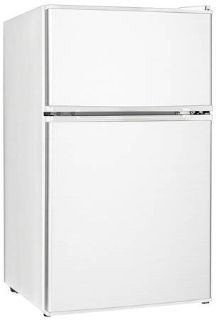 Midea Double Reversible Door Refrigerator And Freezer, 3.1 Cubic Feet