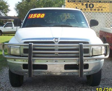 1998 Dodge Ram 1500 4x4, flat bed