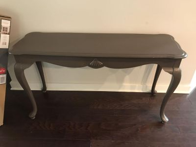 Sofa Console Table - Solid Wood - Olive Color