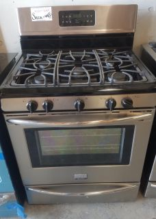 Frigidaire Stainless & Blacl Gas Range
