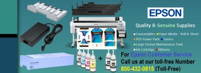 Cartridge issues call at Epson Customer Service at 1-800-432-0815 toll-free