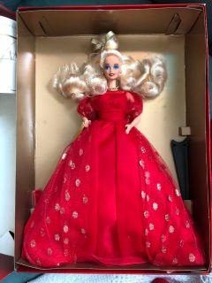 Evening lame Barbie doll in box