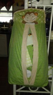 Crib set with diaper stacker