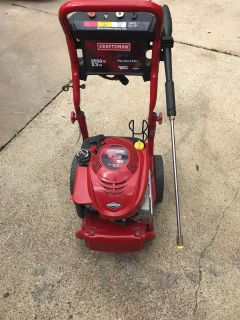 Craftsman pressure washer.You can tell by pictures not very old